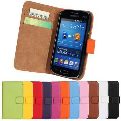 For Samsung Galaxy Fresh GT-S7390 Genuine Leather Stdan Wallet/Pouch Case Cover