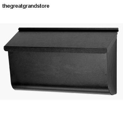 X-Large Woodlands Black Wall-Mount Mailbox Galvanize Steel Home Outdoor Hardware