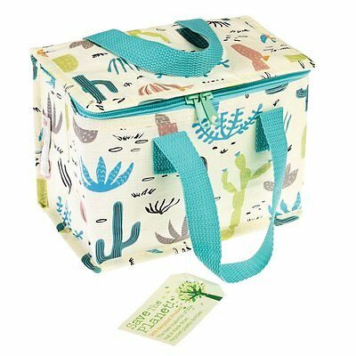 Rex London DESERT IN BLOOM FOIL INSULATED RECYCLED PLASTIC COOL LUNCH BAG