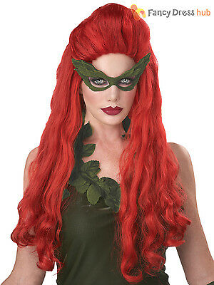 Ladies Lethal Beauty Ivy Long Red Wig Halloween Fancy Dress Costume Accessory