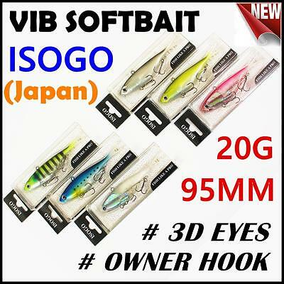 6x Japan 95mm 20g Soft Plastic Fishing Lure Vibe Vibes Jew King Barra Flathead