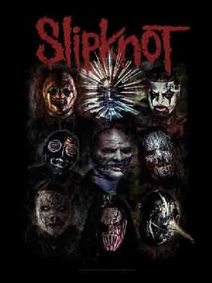 Slipknot Oxidized Music Flags Wall Hanger Made In Italy Licensed Silk L