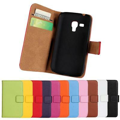 For Samsung Galaxy Trend Plus GT-S7580 Wallet/Pouch Leather Flip Case Cover