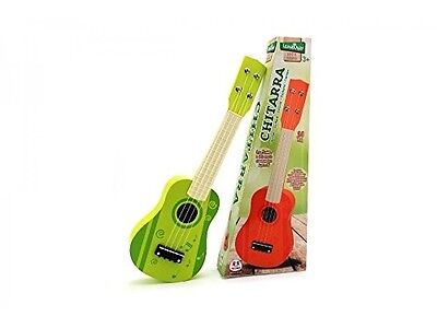 Globo Toys Globo - 37325 54 cm 2 Assorted Legnoland Wooden Guitar with 4-Strings