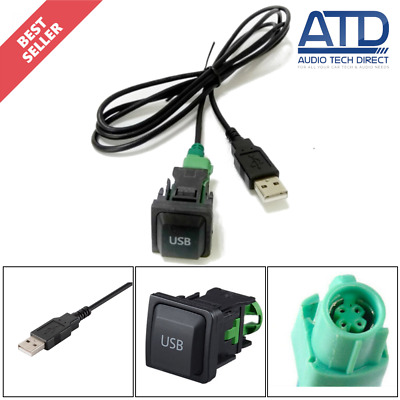 VW Standard Factory Fit USB Port Socket Aftermarket USB Fitting Switch Adaptor
