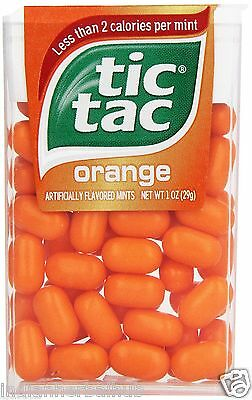 Tic Tac Orange Flavor Mints Singles,Pack of 12 -Ferrero -Free shipping worldwide