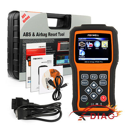 OBD2 Engine+ABS+Airbag SRS+SAS Diagnostic Scan Tool &Reset Fault Code Reader