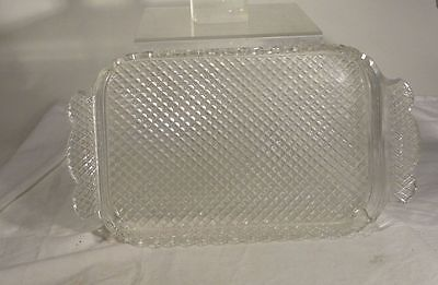Antique ABP American Brilliant Period Cut Glass Tray Ice Cream Tray Dish