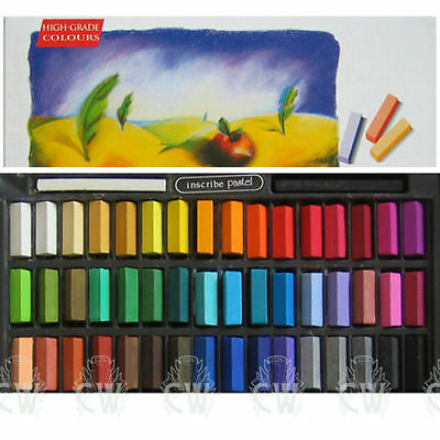 Inscribe Artists Soft Pastels. Box Set of 48 Assorted Colours. IMPS48