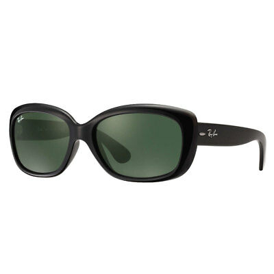 Ray-Ban Women's 4101 Jackie Ohh Sunglasses - Black Frame Green G-15xlt Lens 58mm