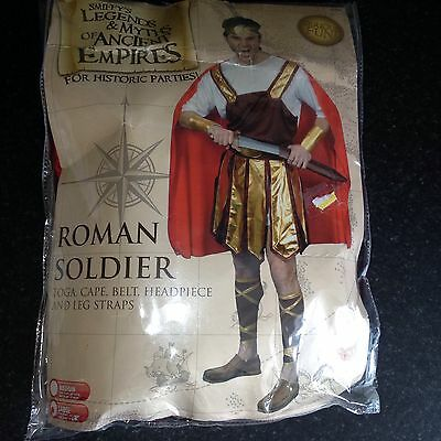 Smiffys ROMAN SOLDIER Legends Myths Fancy Dress Costume Adult Male Mens Toga Etc