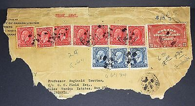 Canada Special Delivery Expres 20c Stamp Kanada Brief Ausschnitt  (Lot-4878+