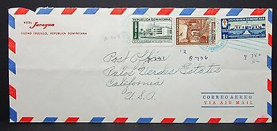 Dominicana Airmail Cover Luftpost Brief in die USA  (Lot-4884+