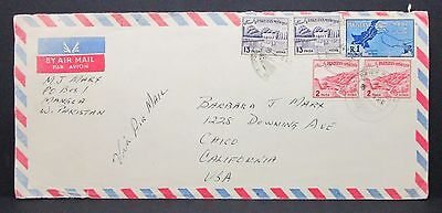 Pakistan Airmail Cover to USA - Paar auf Luftpost Brief MIF Paisa (I-4685+