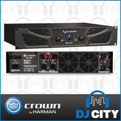 Crown XLI800 PA Power Amplifier 600W 2 Channel Pro Audio Amp