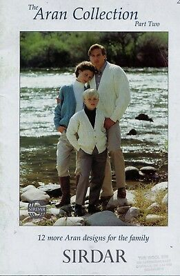 Sirdar Knitting Pattern The Aran Collection Part 2 Adult & Children Sweaters