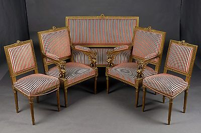 French Lounge suite in the Empire style Napoleon III 19 Jackson