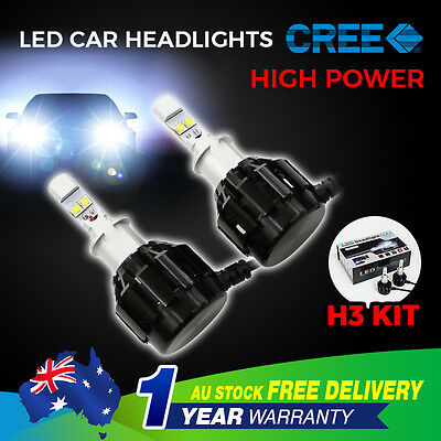 H3 120W Led Car Headlight Kit High Low Beam Vehicle Replace Halogen Xenon