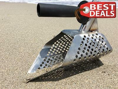 Hunter Stainless Steel Sand Scoop Metal Detecting Tool Shovel + Extra Handle New