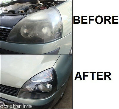 Car Automobile Motorcycle Headlight Lamp Lens Cleaning Renew Restoration Kit .