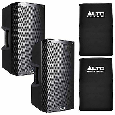 "2 x Alto Truesonic TS215 15"" 1100W Active Speaker Sound System + Covers"