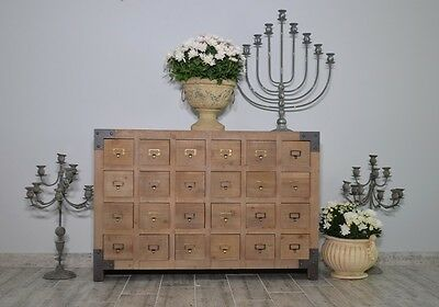 Industrial Apothecary Chest Of Drawers Rustic 24 Drawers Shabby Chic French