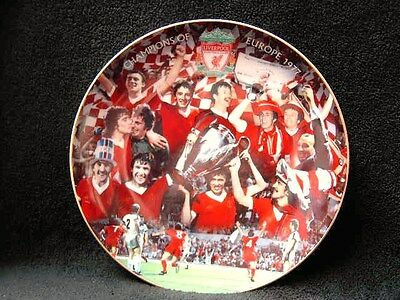 "8"" LIVERPOOL FOOTBALL CLUB PLATE CHAMPIONS OF EUROPE 1977 v BORUSSIA IN ROME"