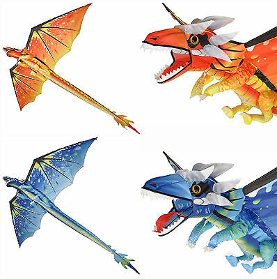 Spirit Of Air Classical Dragon Kite Fire or Ice Design 195cm Wingspan 8 Years+