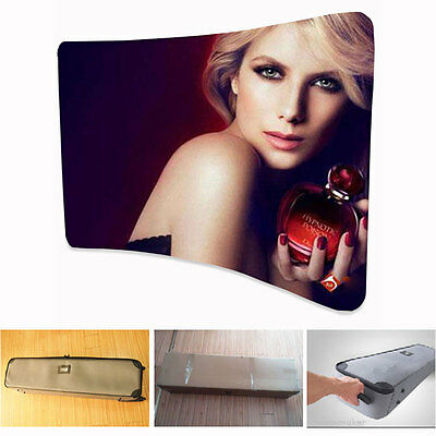 10ft Curved Fabric Tension Display POP Trade Backwall Show+ FREE Printing
