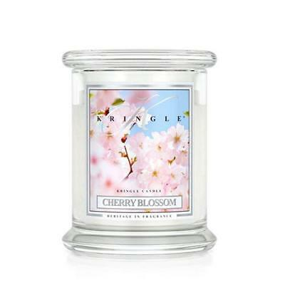 Kringle Candle Cherry Blossom Medium 2 Wick Jar Scented Candle FREE P&P