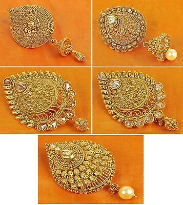 Indian Ethnic Gold Tone Hair & Head jewelry Bridal Hair Accessories