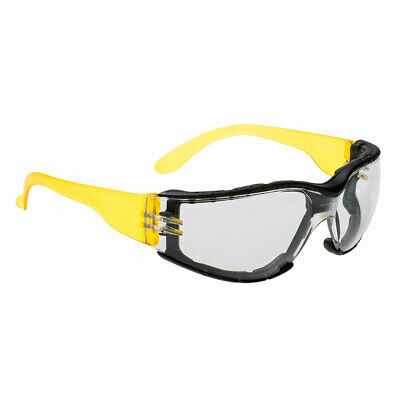 Portwest PS32 Wrap Around Safety Glasses Spectacles Clear Lens