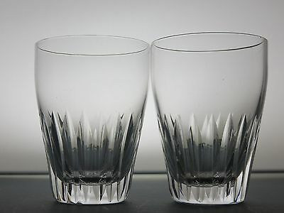 Cut Glass Crystal Drinking Whiskey Tumblers Whisky Glasses  Set Of 2