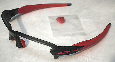Oakley Flak 2.0 Matte Grey Smoke Red Sunglasses Frame *authentic*