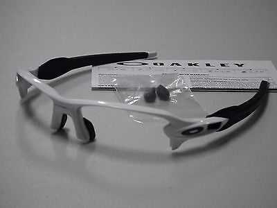 Oakley Flak 2.0 Polished White Black Sunglasses Frame *authentic Original*