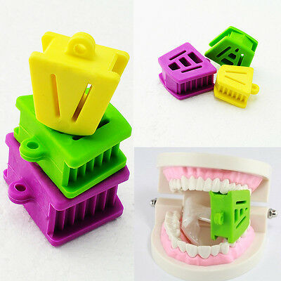 3X Dental Silicone Mouth Bite Block Rubber Mouth Opener Cheek Retractor Prop CNC