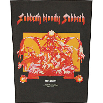 Black Sabbath Men's Sabbath Bloody Sabbath Back Patch Black