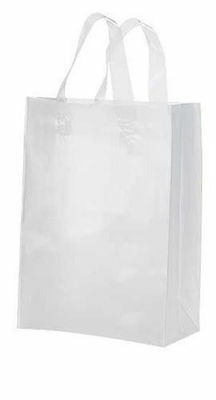 """Clear Bags Plastic 100 Retail Merchandise Shopping Frosted Frosty 8"""" x 5"""" x 10"""""""