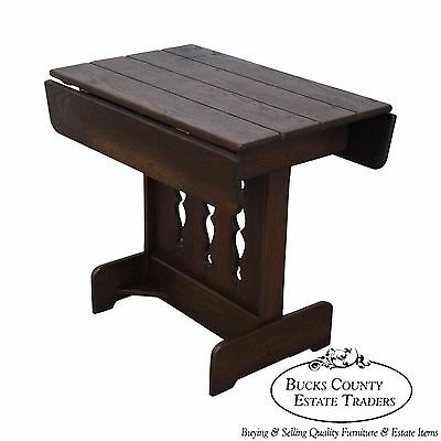 Old Hickory Rustic Drop Leaf Side Table