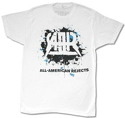 All American Rejects Men's Splatter 2012 Tour T Shirt White Kids In The Street