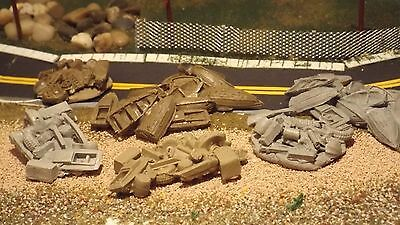 N-Scale Dingy & Garbage Piles 1:160 Model Train Detail Accessories