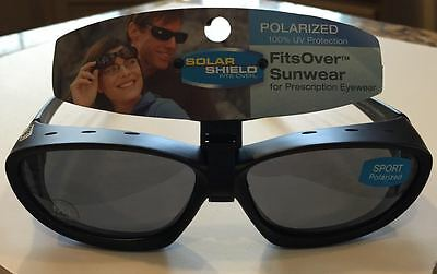 4eb4cabea3 Solar Shield Polarized Fits Over - Sport - Vented - Black With Gray - Size M