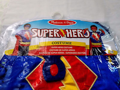 NEW Super Hero Melissa & Doug Childs Costume Set Child Boys Ages  3-6 Cosplay