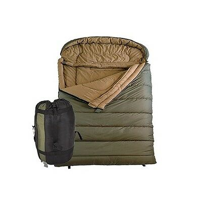 New TETON Sports 111 Mammoth 0 F Queen Size Flannel Lined 94 x 62 Sleeping Bag