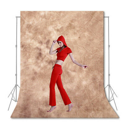 10x12ft Photo Studio Brown Seamless Muslin Backdrop Tie Dyes Cotton Background