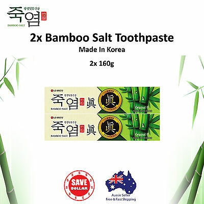 2x 140g Bamboo Salt Toothpaste Whitening Dental Oral Care Tooth Made In Korea