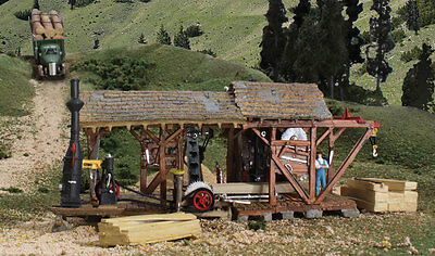 Sawmill from Woodland Scenics- HO Model Trains- Layout Building