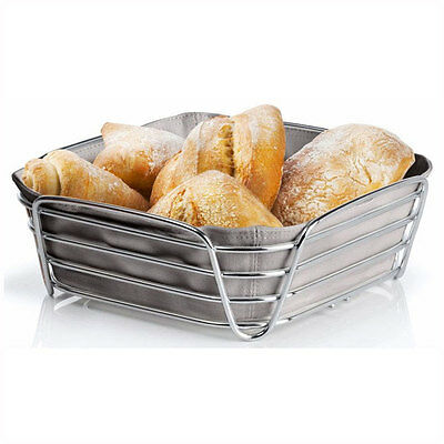 Blomus Delara Bread Basket Large Taupe 63668 Cloth Steel Kitchen Table Serveware