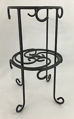 LONGABERGER Wrought Iron Foundry Round Coffee Mug/Cup Tree -2 Tier Stand Holder