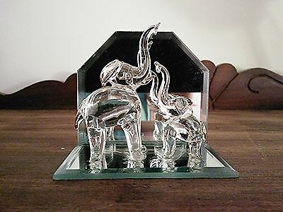 Vintage Mini Glass Elephant Figurine